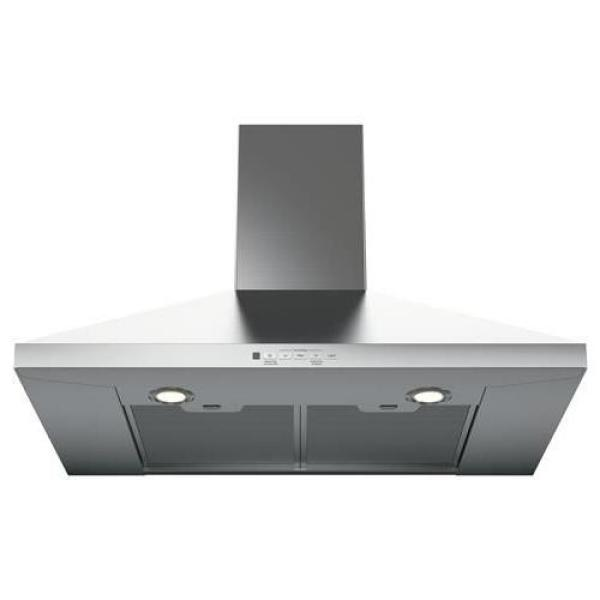 GE 36 in. Convertible Wall-Mount Range Hood with Light (Available in Stainless Steel and Black Stainless)