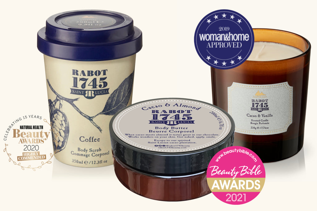 beauty bible gold award for rabot cacao almond body butter