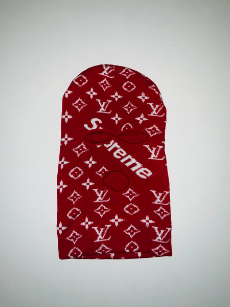 SKI-08 Designer Inspired Red and White SUP SKI MASK