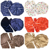 WHOLE-106 25 Designer Inspired Silk DURAGS and BONNETS