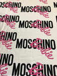 MOS-108 Designer Inspired MOSCHINO BARBIE White Spandex Lycra Fabric Stretch