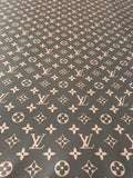 DURAG-03 Designer Inspired Louis Vuitton BROWN Monogram  Durag long tie