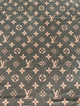 VELVET-102 Designer Inspired LV BROWN VELVET Fabric