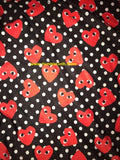 CD-101 Designer Inspire HEARTS and POLKA Spandex Lycra Fabric