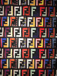 FEND-102 Designer Inspired FF MULTI-COLOR Spandex Lycra Fabric