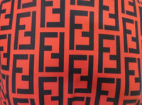 FEN-110 Designer Inspired RED with BLACK Spandex Lycra Fabric