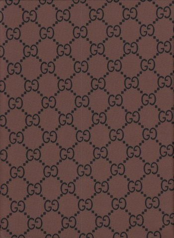 GU-107 Designer Inspired GG BROWN with BLACK GG Spandex Lycra Fabric