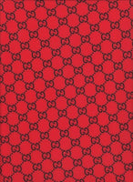 GU-105 Designer Inspired RED with Black GG Spandex Lycra Fabric