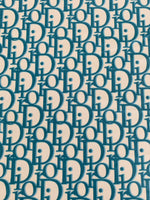 DR-108 Designer Inspired Blue on Blue Spandex Lycra Fabric