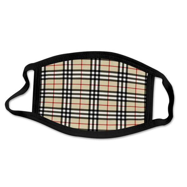 MASK-13 Designer Inspired Plaid Face Mask