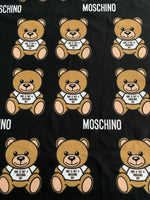 MOS-106 Designer Inspired BLACK BEAR Spandex Lycra Fabric Stretch