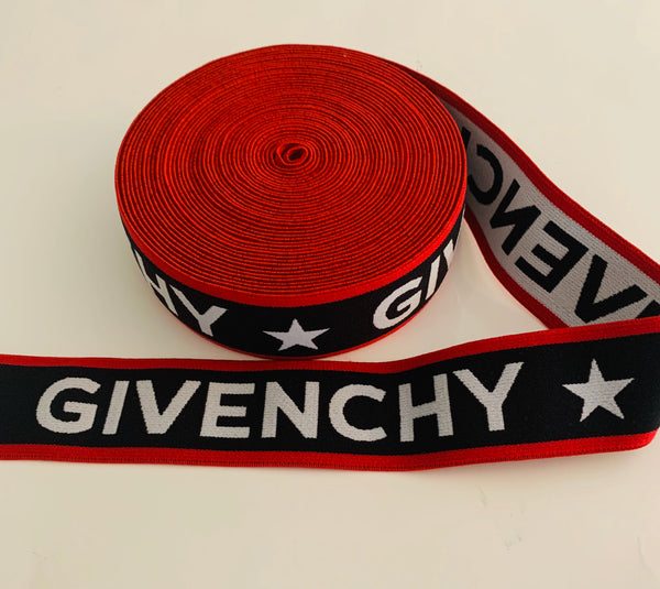 ELASTIC-12 Designer inspired Givenchy Elastic by the YARD