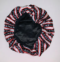 BONNET-12 Designer Inspired BONNET STRIPE hair tie