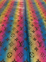 HOLO-208 Designer Inspired HOLOGRAM Blue Pink Yellow Spandex Lycra Fabric