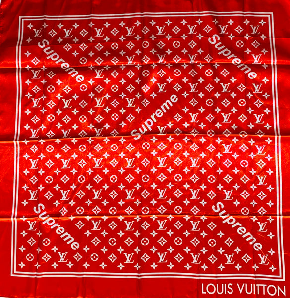 BAND-102 Designer Inspired BANDANA RED WHITE SUP SCARF