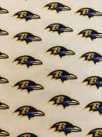NFL-208 Baltimore Ravens purple Spandex Lycra Fabric