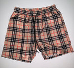 SHORTS-32 Designer Inspired PLAID Swim Trunks Beach Shorts