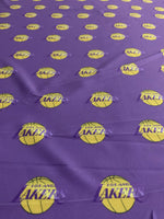 NBA-102 TEAM LOS ANGELES LAKERS Spandex Lycra Fabric