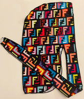 DURAG-15 Designer Inspired MULTICOLOR Durag long hair tie