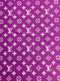 N-210 Designer Inspired PURPLE with WHITE Spandex Lycra Fabric