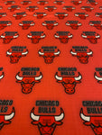 NBA-102 TEAM CHICAGO BULLS RED Spandex Lycra Fabric
