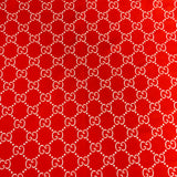 GU-605 Designer Inspired RED AND WHITE Spandex Lycra Fabric