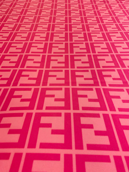 FEN-403 Designer Inspired Pink on Pink Spandex Lycra Fabric