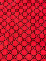 VELVET-201 Designer Inspired RED GG VELVET Fabric