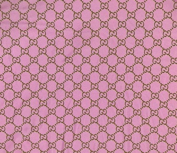 GU-406 Designer Inspired  Spandex Lycra Powder Pink and Gold Fabric 1 YARD