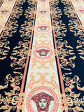 VER-209 Designer Inspired Small Black and GOLD Spandex Lycra Fabric
