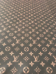LV-101 Designer Inspired BROWN LV Monogram Vuitton Spandex Lycra Fabric