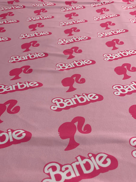 BAR-01 BARBIE PINK Spandex Lycra Fabric by the Yard