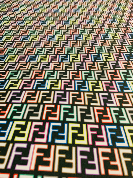 FEN-305 Designer Inspired Neon Multi-Color Spandex Lycra Fabric 1 Yard
