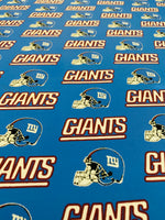 NFL-110 NEW YORK GIANTS TEAM Spandex Lycra Fabric