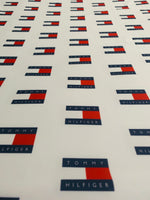 TOM-101 Designer Inspired White Blue Red Spandex Lycra Fabric
