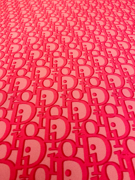 DR-201 Designer Inspired PINK on PINK Big print Spandex Lycra Fabric