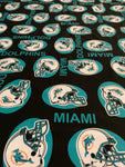 NFL-203 TEAM MIAMI DOLPHINS Spandex Lycra Fabric