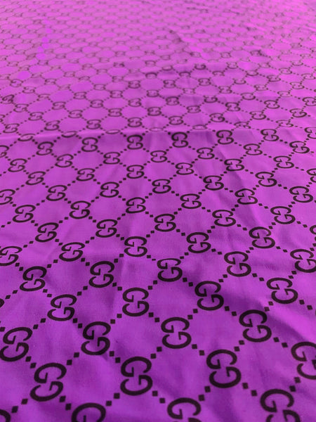 GU-507 Designer Inspired Spandex Lycra PURPLE Fabric