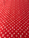 N-204 Designer Inspired RED with WHITE Spandex Lycra Fabric