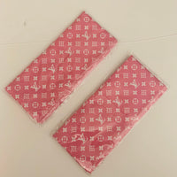 HEAD-506 Designer Inspired Headband POWDER PINK and WHITE