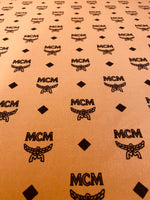 MC-106 Designer Inspired COGNAC and BLACK Spandex Lycra Fabric
