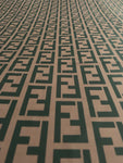 FEN-101 Designer Inspired BROWN Spandex Lycra Fabric