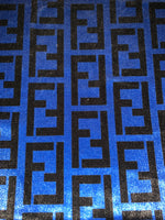 VELVET-108 Designer Inspired BLUE VELVET Fabric