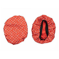 BONNET-01 Designer Inspired RED BONNET DURAG hair tie