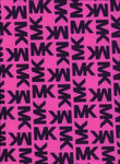 MK-102 Designer Inspired PINK with BLACK Spandex Lycra Fabric