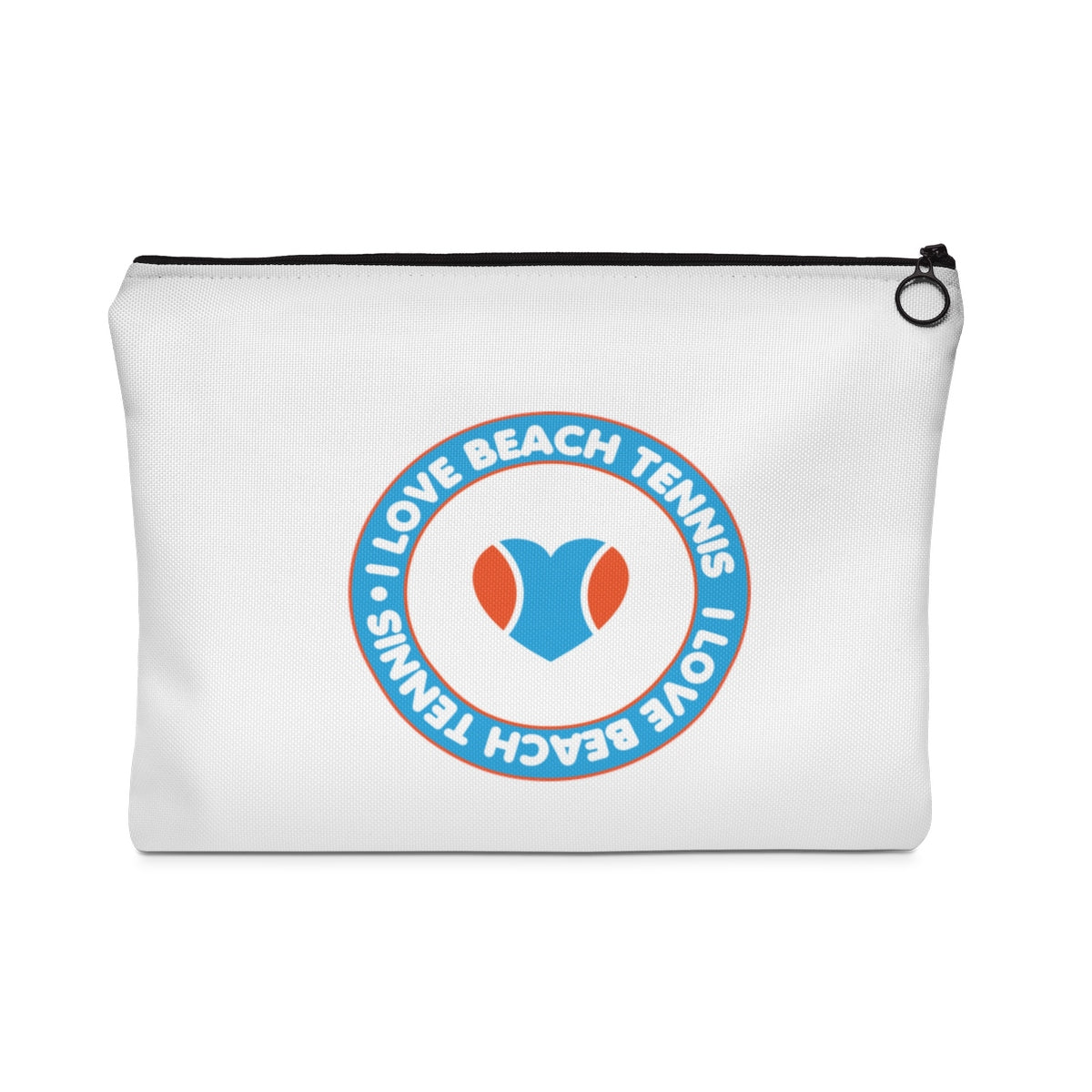 I Love Beach Tennis Retro Logo Carry All Pouch
