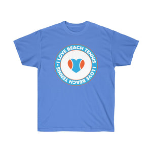 I Love Beach Tennis Retro Circle Tee