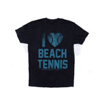 I Love Beach Tennis Faded Tee