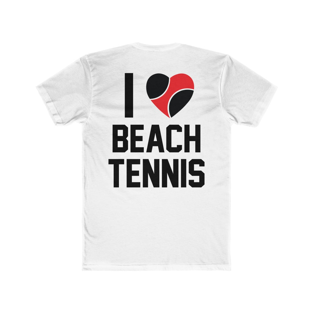 I Love Beach Tennis Backside Tee