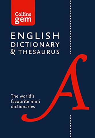 Collins English Dictionary and Thesaurus Gem Edition: Two books-in-one mini format (Collins Gem)